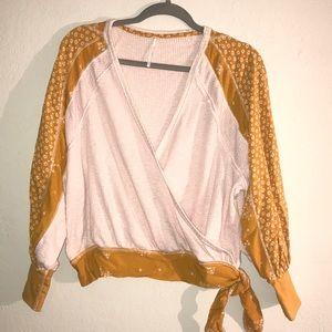 Free people boho knit top
